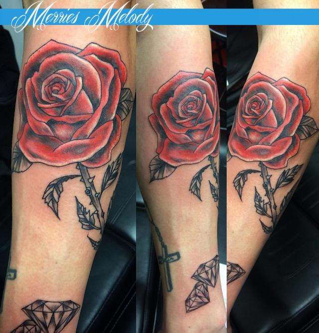 rose rouge diam