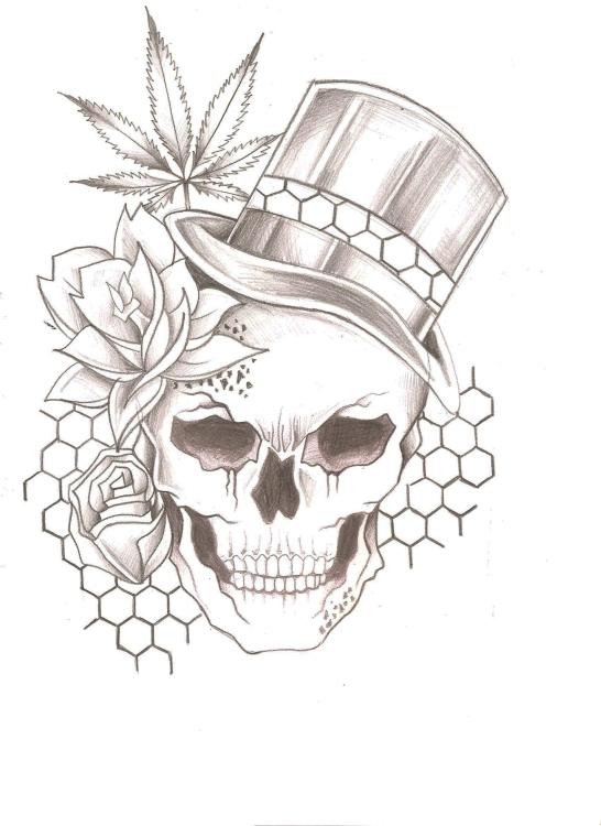 skull chapeau