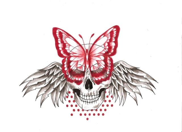 skull papillon