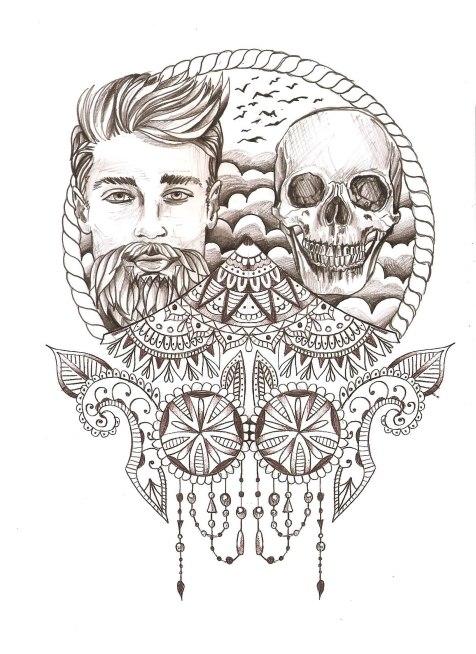 skull visage indian