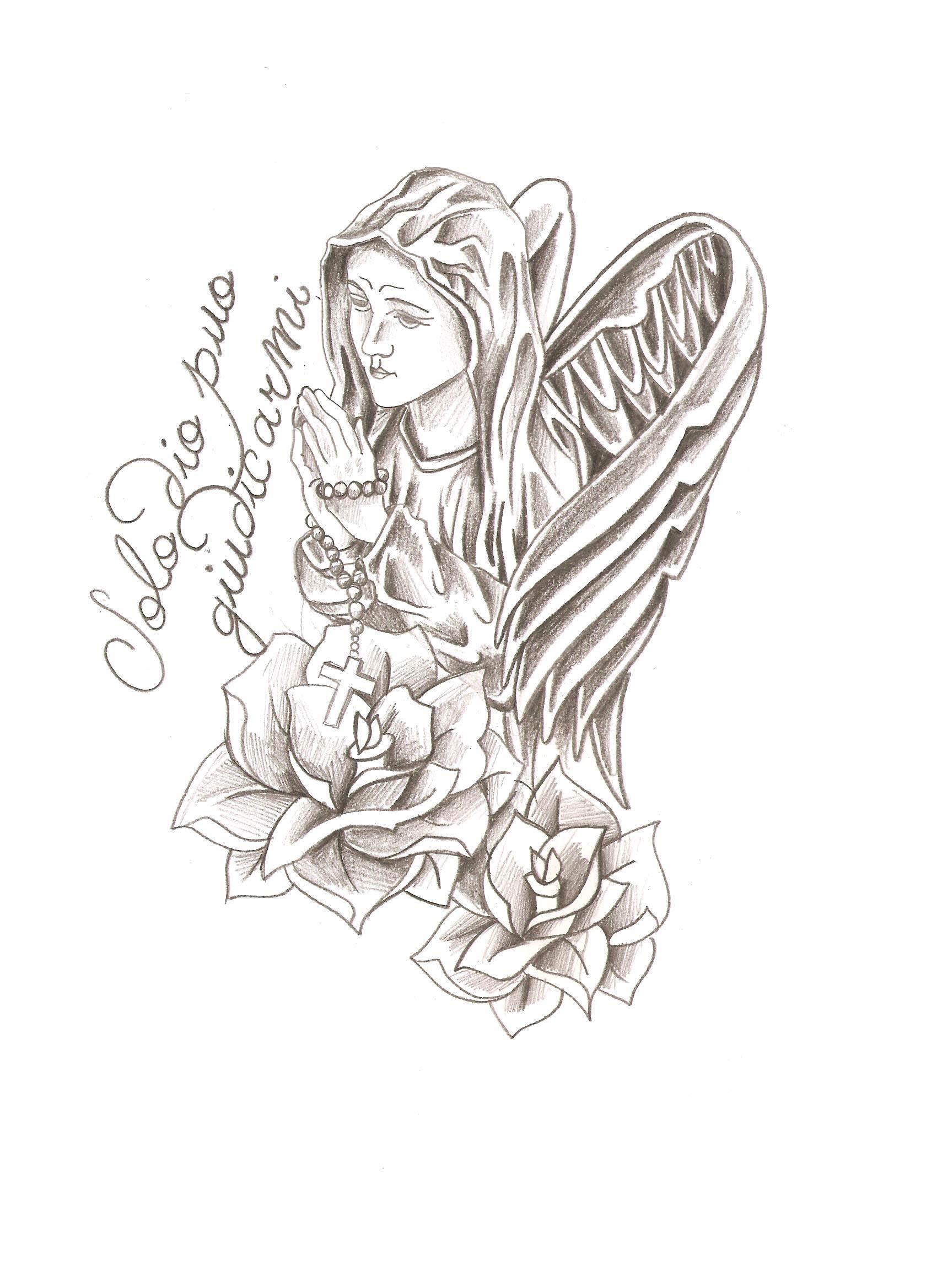 Dessin Tatouage Vierge 3dliveproject