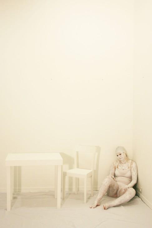 3 ème année des beaux art de brest - série de photos enfermement stérile